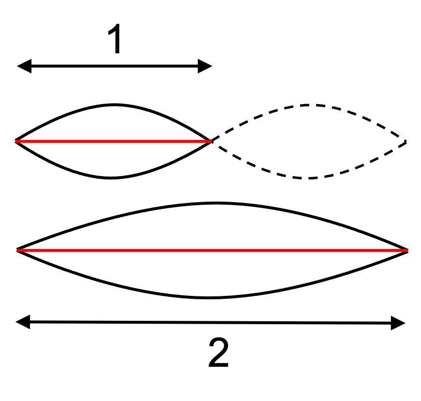 Illustration of first overtone